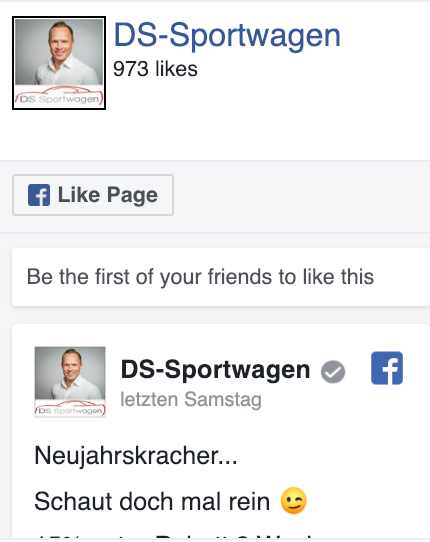 DS Sportwagen Facebook